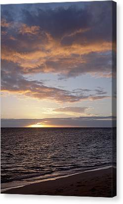 Kailua Sunset Canvas Print by Brandon Tabiolo