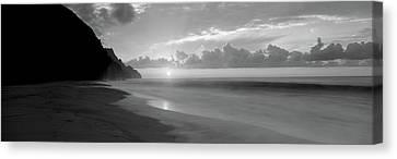 Kalalau Beach Sunset, Na Pali Coast Canvas Print by Panoramic Images
