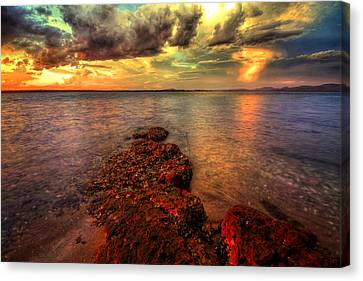 Karuah Sunset Canvas Print by Paul Svensen