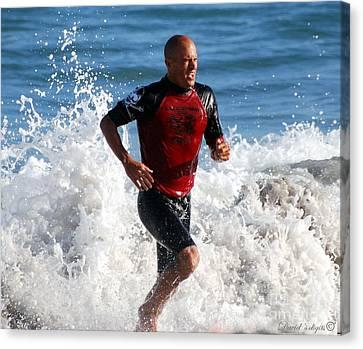 Kelly Slater Canvas Print - Kelly Slater World Surfing Champion Copy by Davids Digits