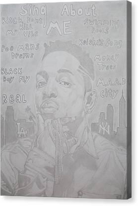 Gold Chain Canvas Print - Kendrick Lamar  by Niklas Andersen