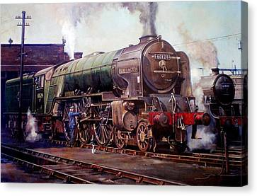 Kenilworth On Shed. Canvas Print by Mike  Jeffries