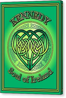 Kennedy Soul Of Ireland Canvas Print by Ireland Calling