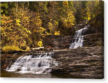 Kent Falls In Autumn Canvas Print by Stephanie McDowell