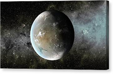Goldilocks Canvas Print - Kepler-62f by Nasa/ames/jpl-caltech