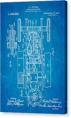Kettering Electric Ignition Patent Art 1915 Canvas Print by Ian Monk