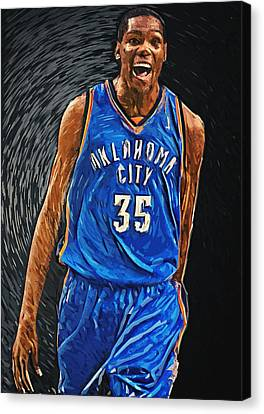 American Basketball Player Canvas Print - Kevin Durant by Taylan Apukovska