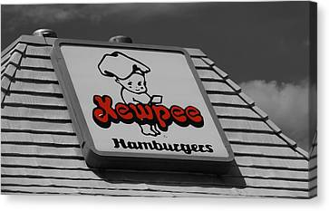 Local Food Canvas Print - Kewpee Restaurant by Dan Sproul