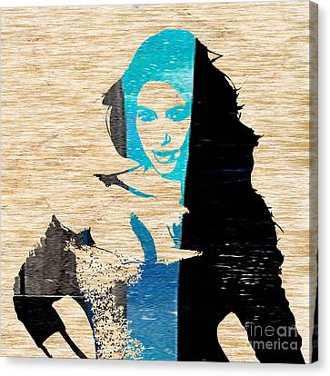 Kim Kardashian Canvas Print by Marvin Blaine