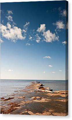 Kimmeridge Bay Seascape  Canvas Print by Matthew Gibson