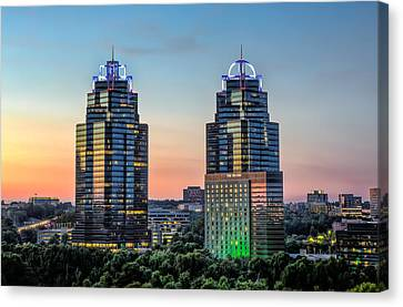 King And Queen Buildings Canvas Print