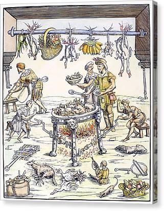 Kitchen, 1549 Canvas Print by Granger