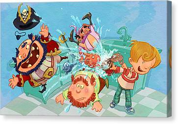 Kitchen Pirates Canvas Print by Andy Catling