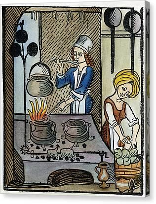 Kitchen Scene, 1507 Canvas Print by Granger