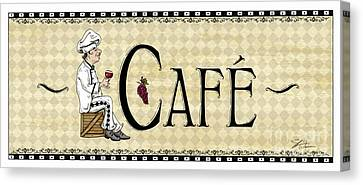 Kitchen Sign-cafe Canvas Print