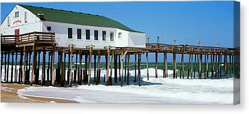 Kitty Hawk Pier On The Beach, Kitty Canvas Print by Panoramic Images