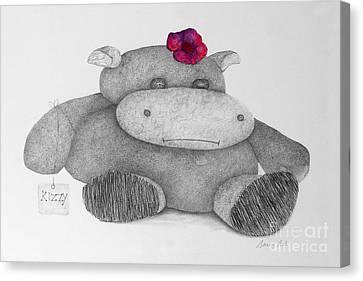 Kizzy Hippo Canvas Print