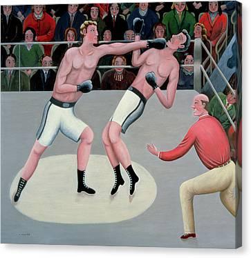 Referee Canvas Print - Knock-out by Jerzy Marek