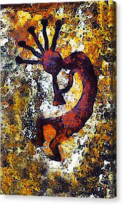 Kokopelli The Flute Player Canvas Print