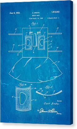 Kroha Beauty Mask Patent Art 2 1933 Blueprint Canvas Print