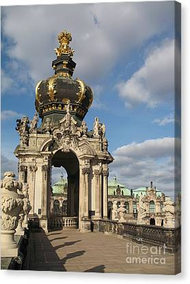 Kronentor Zwinger Dresden  Canvas Print by Christiane Schulze Art And Photography