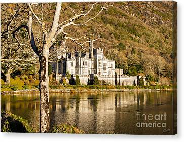 Kylemore Abbey In Winter Canvas Print
