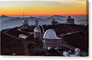 La Silla Observatory At Dusk Canvas Print