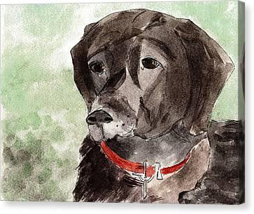 Labrador Retriever Canvas Print by Elizabeth Briggs