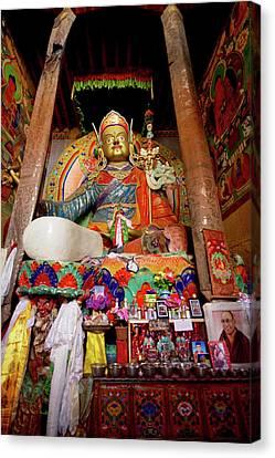 Artisan Canvas Print - Ladakh, India The Interior Of The Hemis by Jaina Mishra