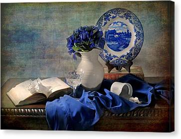 Lady's Got The Blues Canvas Print by Diana Angstadt