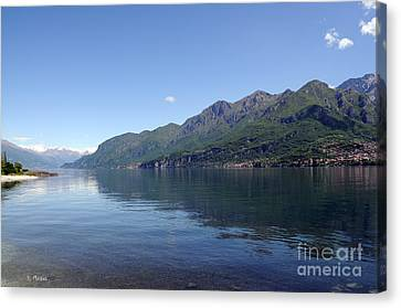 Lake Como - Italy Canvas Print by Haleh Mahbod
