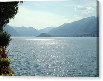 Lake Como Canvas Print by Valentino Visentini