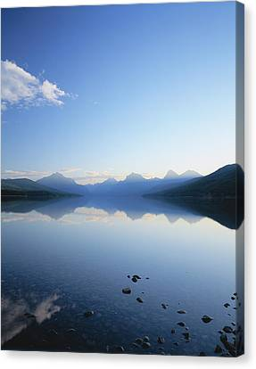 Lake Mcdonald And The Rocky Mountains Canvas Print