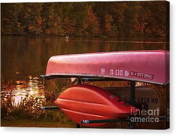 Lake Newport Kayaks Canvas Print by Janice Rae Pariza