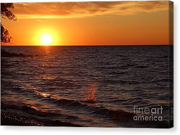 Canvas Print featuring the photograph Lake Ontario Sunset by Jemmy Archer