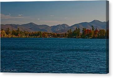 Lake Placid And The Adirondack Mountain Range Canvas Print