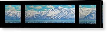 Lake Tahoe After The Storm Triptych Canvas Print by Frank Wilson