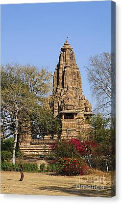 Lakshmana Temple At Khajuraho In India Canvas Print