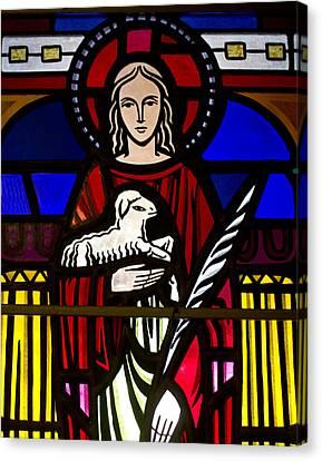 Lamb Of God  Canvas Print by Dee  Savage