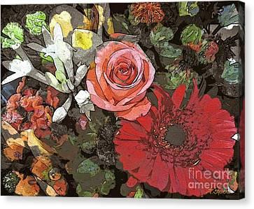 Canvas Print featuring the digital art Lancaster Flowers by Joseph J Stevens