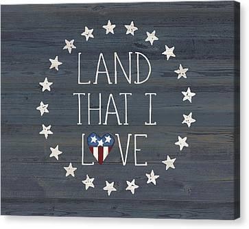 Land I Love Canvas Print