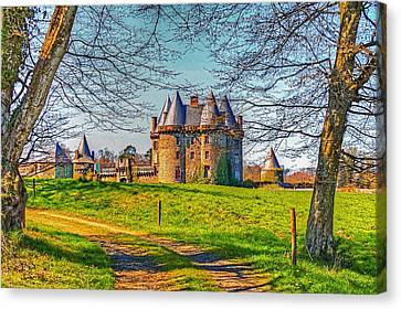 Canvas Print featuring the photograph Chateau De Landale by Elf Evans