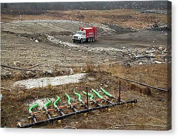 Renewable Canvas Print - Landfill Site by Jim West