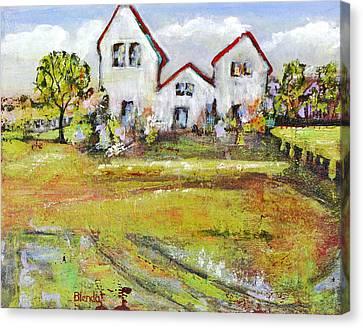 Landscape Art Scenic Fields Canvas Print by Blenda Studio