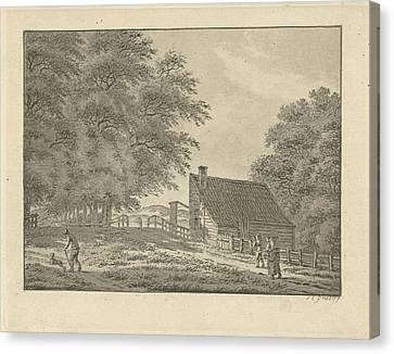 City Scape Canvas Print - Landscape At Overveen With Walkers, Jan Evert Grave by Jan Evert Grave
