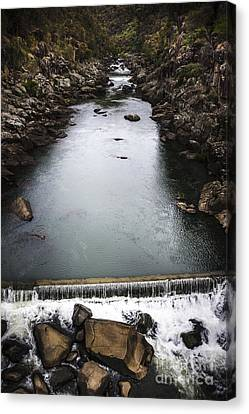 Landscape Of A Water Canyon With Rock Waterfall Canvas Print by Jorgo Photography - Wall Art Gallery