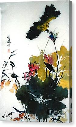 Chinese Flower Brush Painting Canvas Print by Rose Wang