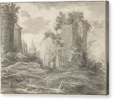 City Scape Canvas Print - Landscape With Ruins, Jurriaan Cootwijck by Jurriaan Cootwijck