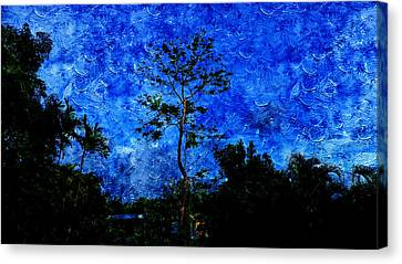 Landscapes In Blue Sky Canvas Print