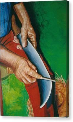 Las Manos De Mi Padre Canvas Print by Mayra  Martinez